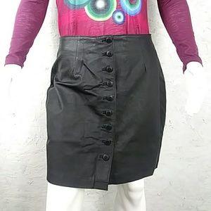 Leather black skirt newport news